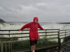 Getting wet at Iguazu Falls, Argentina